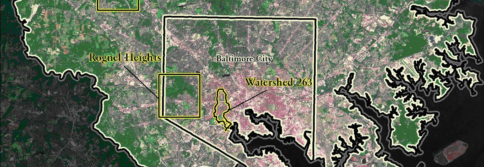 Balto City and County land cover study areas