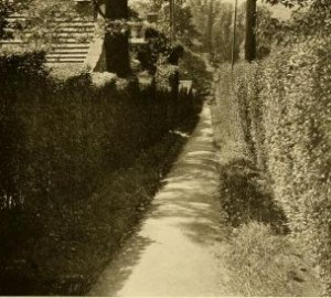 A typical pathway from 'A book of pictures in Roland Park, Baltimore, Maryland' 1911