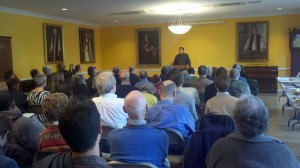 Adam Rome presented to a packed room at the final Exploring Environmental History series, co-sponsored by FMOPL.