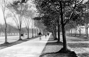America's first bike path, designed by Olmsted in 1894. (Credit: http://www.nycgovparks.org/about/history/bicycling)
