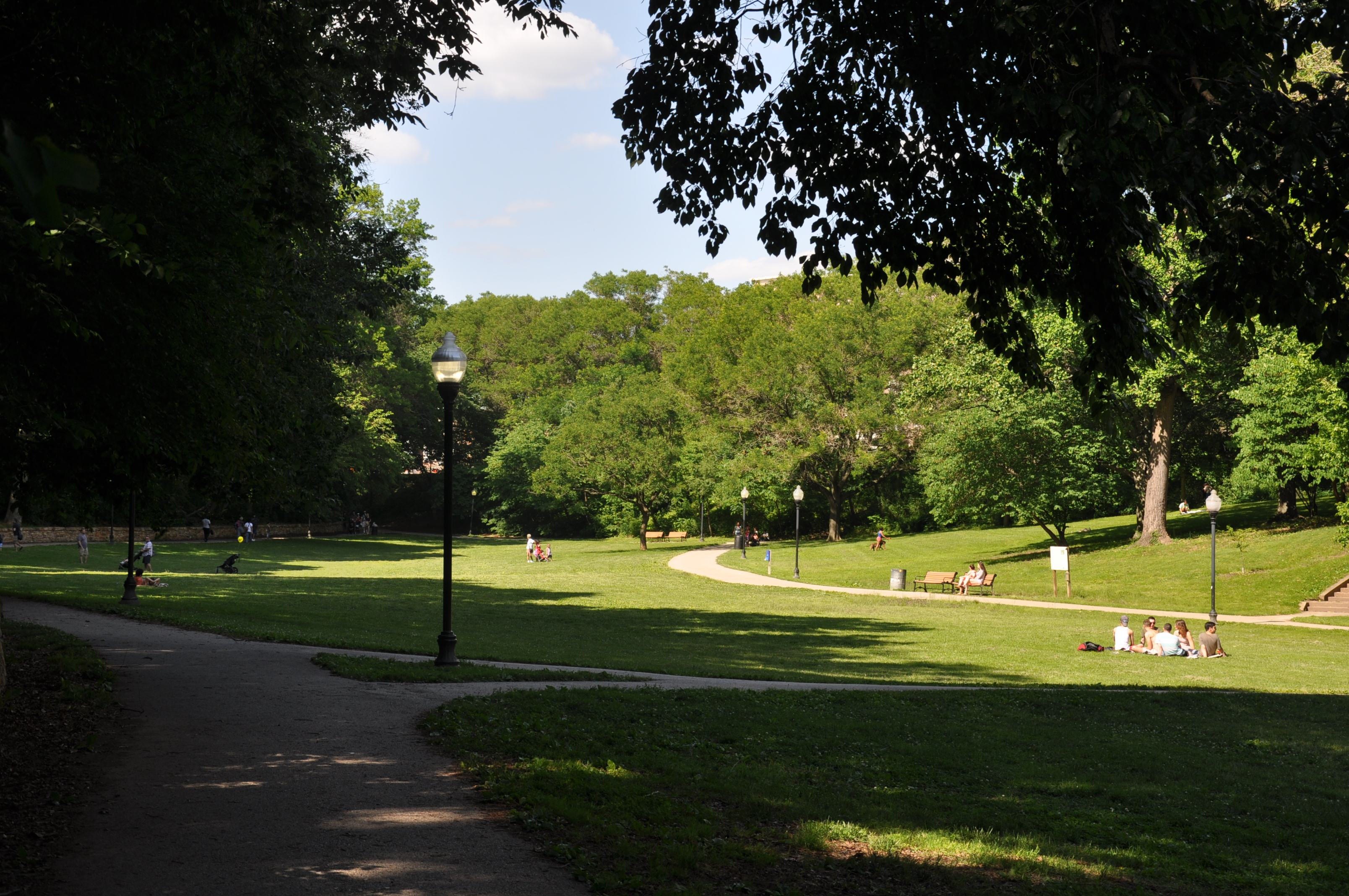 Wyman Park Dell, designed by the Olmsted Brothers, early 20th century.